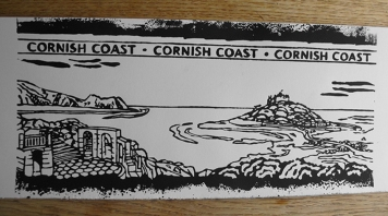 St Michaels Mount Linocut